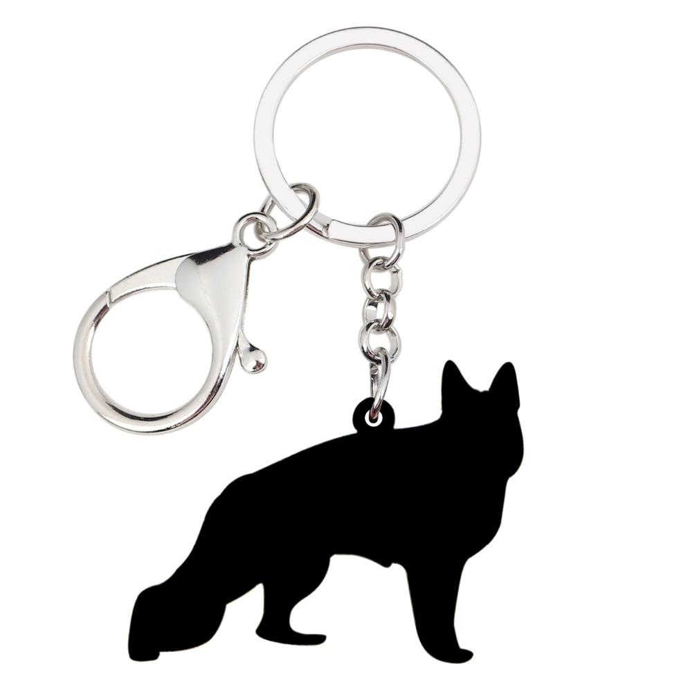 Animal Pet GERMAN SHEPHERD Dog Key Ring Keychain Key Chain NEW